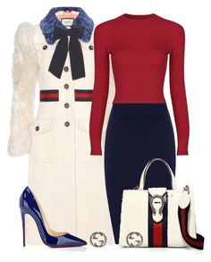 """""""Crème de la Gucci"""" by perichaze ❤ liked on Polyvore featuring Gucci, WearAll and Christian Louboutin"""