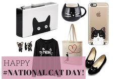 Happy National Cat Day! How are you celebrating this year? Snuggling with your kitty? Gazing longingly through the pet store window? Cats make great companions, and cat motifs have the power to make even mundane items super-cute. This cat clutch is super chic, and these flats are SO CUTE! If you're a cat lover, this is for you.