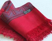For Christmas / Men's hipster paisley winter scarf / Tootal original scarf / maroon / men's fashion