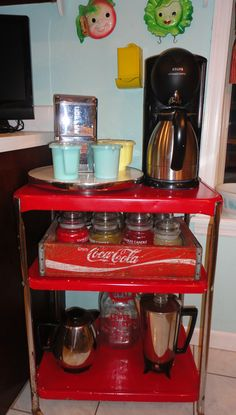 I was inspired by a pin! My new coffee station!