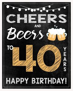 35 Ideas birthday ideas for men pictures Happy Birthday 40, 40th Birthday Party Themes, 40th Birthday Cakes For Men, Beer Birthday Party, Birthday Wishes For Men, 40th Bday Ideas, 40th Birthday Cards, 40th Birthday Invitations, Happy Birthday Greetings