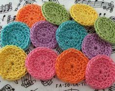 crochet circles - Etsy. Lovely colors!!