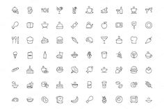 300 Food Hand Drawn Doodle Icons by Creative Stall on @creativemarket