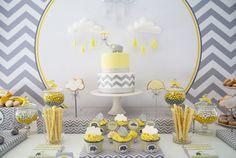 umbrella cakes shower | Yellow and Grey Elephant Baby Shower - Anders Ruff Custom Designs, LLC