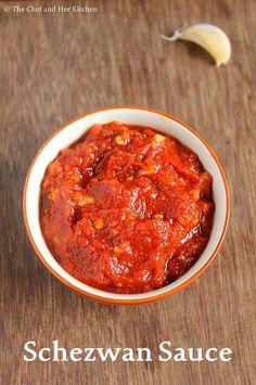 THE CHEF and HER KITCHEN: Schezwan Sauce Recipe | How to make Chinese Schezwan Sauce