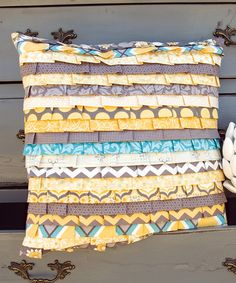 If only i knew how to sew id be all over this...love it!!   Ruffle Pillow Kit by Adornit on #zulily today!