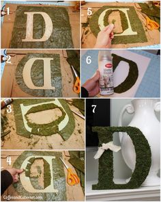 Moss Covered Letters