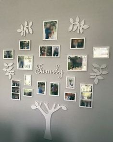 Easy Diy Farmhouse Living Room Wall Decor Ideas ~ - Famous Last Words Family Tree Wall Decor, Room Wall Decor, Living Room Decor, Living Rooms, Diy Family Tree Project, Photo Wall Decor, Family Tree With Pictures, Family Tree Photo, Wall Decor With Pictures