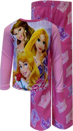 WebUndies.com Disney Princesses Pink Polar Fleece Pajama Set
