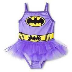 Batman Toddler Girls' 1-Piece Tutu Swimsuit - Purple : Target