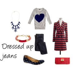 """""""Dressed up jeans"""" by beautybesties1 on Polyvore"""