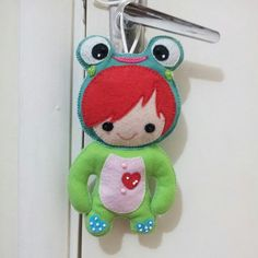 #Felt #frog #feltro #sapo #sapinho