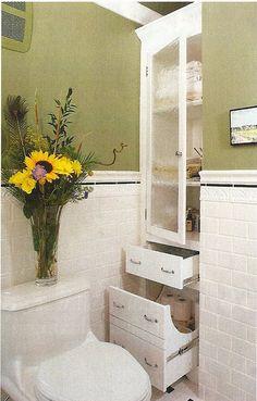 3d2eecfd38e Built-ins for extra bathroom storage Bathroom Built Ins