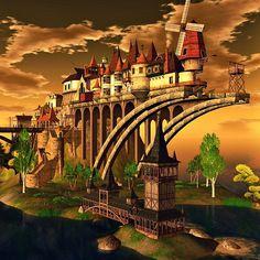 """Verdigris"" by Keisuke   - tags: #secondlife #places #surreal #virtual #3Dlandscapes"