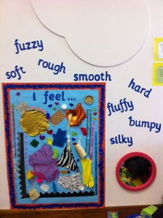 Sensory board, ideal for nursery rooms, interchangeable too! Sensory board, ideal for nursery rooms, interchangeable too! Display Boards Nursery Baby, Display Ideas Nursery, Nursery Activities, Infant Activities, Preschool Activities, School Displays, Classroom Displays, Baby Room Ideas Early Years, Infant Room Daycare