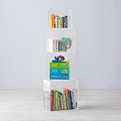 Block Tower Acrylic Bookcase | The Land of Nod