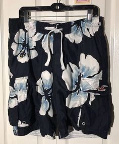 1b3110b3a4 Details about Adidas mens Swim Trunks board shorts mesh lined navy blue  size 32