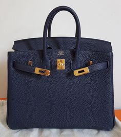 """363e8b42e82c Authentic Bags Lovers on Instagram  """"Brand New Birkin25 Blue Nuit Togo Ghw  A"""""""
