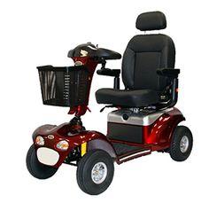 "Shoprider – Sprinter XL4 Deluxe – Heavy Duty Scooter – 4-Wheel – Burgundy  Top Speed: 5.00 MphTurning Radius: 72""Wheel Type: 4-wheel"
