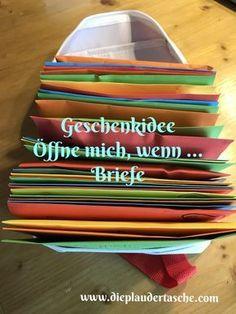 Öffne mich, wenn …. – Briefe – Die Plaudertasche Die #Bastelanleitung für die #Öffnemichwenn #Briefe gibt es unter https://dieplaudertasche.com/2017/09/12/oeffne-mich-wenn-briefe/ #dieplaudertasche #geschenkidee #diy #freundin