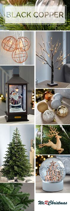 This metallic theme is ideal for a modern Christmas. It complements darker colours and focuses on simplicity. It includes a variety of metal tree and floor decorations and utilises warm white lights to provide a warming feel.