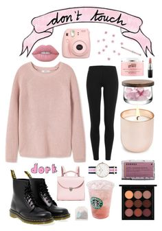 """""""don't touch"""" by annnnnnnnnn ❤ liked on Polyvore featuring MANGO, Polo Ralph Lauren, Dr. Martens, MAC Cosmetics, Lime Crime, The Cambridge Satchel Company, Korres, Jonathan Adler, Fujifilm and LSA International"""