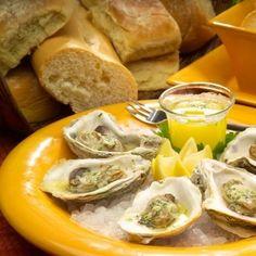 Lemon Garlic Gulf Oysters