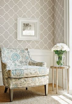 Home wallpaper living room wallpapers 43 new ideas Home Living Room, Living Room Designs, Living Room Decor, Bedroom Decor, Accent Wallpaper, Trellis Wallpaper, Geometric Wallpaper, Wall Wallpaper, Wallpaper Lounge