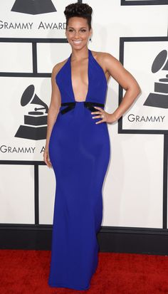 Alicia Keys arriving at the 56th annual Grammy Awards 2014