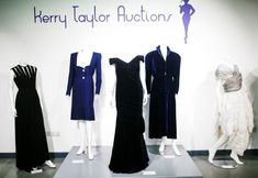 Dress Diana wore as she danced with Travolta fails to sell at auction Velvet Evening Gown, Evening Gowns, Under The Hammer, Blue Velvet Dress, Image T, Tower Of London, Better Half, Fashion Sale, Midnight Blue