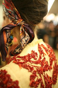 Backstage at Dolce & Gabbana RTW Spring 2013