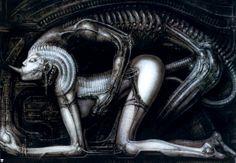 """H.R. Giger """"Begoetterung XI"""" (1979)"""