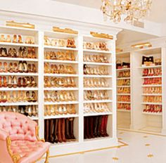 shoes shoes shoes. Omg I want my closet like this