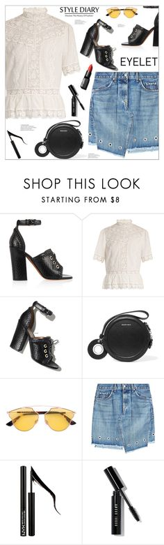 """""""Summer Trend- Eyelet"""" by arohii ❤ liked on Polyvore featuring Givenchy, Rebecca Taylor, Dolce&Gabbana, Carven, Christian Dior, rag & bone, Forever 21, Bobbi Brown Cosmetics, Dior and summertrend"""