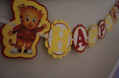 Daniel Tiger Birthday Banner  MADE TO ORDER by ReallyRenata