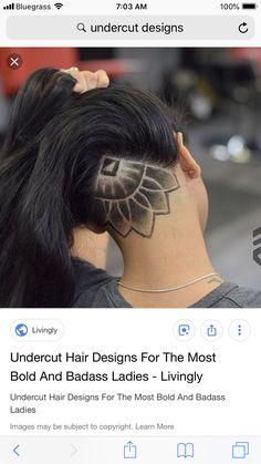Shaved Undercut, Undercut Long Hair, Undercut Hairstyles, Updo Hairstyle, Hair Color And Cut, Cool Hair Color, Undercut Hair Designs, Sams Hair, Bleached Hair Repair