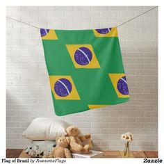 Flag of Brazil Pramblanket