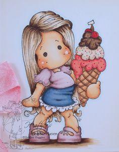 Tilda with Cherry Ice Copic Coloring Card Kit