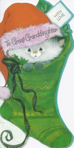 Vintage Christmas Greeting Card by Hallmark by jarysstuff Cat Christmas Cards, Old Time Christmas, Christmas Kitten, Christmas Graphics, Hallmark Christmas, Christmas Scenes, Vintage Christmas Cards, Christmas Images, Xmas Cards