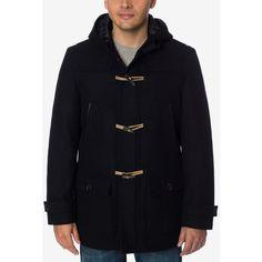 Nautica Men's Toggle Coat (5.100 RUB) ❤ liked on Polyvore featuring men's fashion, men's clothing, men's outerwear, men's coats, black, nautica mens coats, mens toggle coat and mens coats