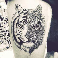 #tiger #mandala #tattoo #dovme