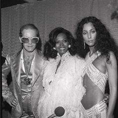 Elton John, Diana Ross, and Cher at Studio 54