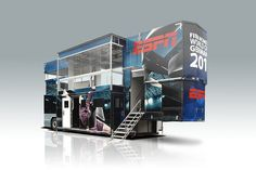 Mobile media & entertainment facilities | ESPN 'BIG BLUE' - FIFA Women's World Cup 2011 Germany by Movico | Roadshow, promotion trailers, hospitality, via Flickr