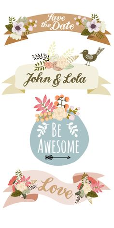 **Mia Charro - Illustrator**: Botanical Banners