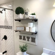 Restroom decor - Two Industrial Modern Wood and Metal Shelves, Pipe Shelves, Metal Shelf Brackets with Wood Plank Shelves, Farmhouse Style Shelves – Restroom decor Wood Plank Shelves, Wood And Metal Shelves, Pipe Shelves, Bathroom Shelves Over Toilet, Floating Shelves Bathroom, Bathroom Toilet Paper Holders, Metal Shelving, Easy Home Decor, Simple Apartment Decor