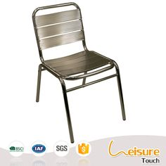 Great Waterproof Outdoor Restaurant Cheap Bar Furniture Aluminum Bistro  Chairs For Sale