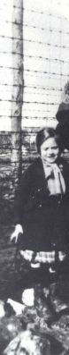 Taken in Poiters Camp 1942- Anna Goldstein beside her mother. Anna was sadly murdered in the gas chamber in Auschwitz on Sept. 16, 1942 with her mother and siblings at age 7.