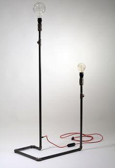 Stalowa Lampa Podłogowa Stojąca, Loft