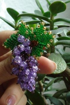 beaded bunch of grapes (Russian)
