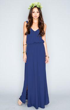 Kendall Maxi Dress - Navy Crisp | Show Me Your MuMu